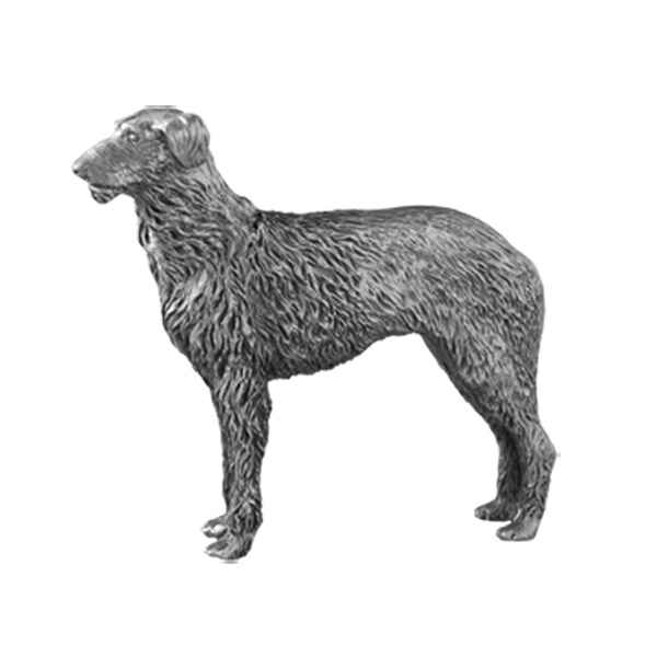 Figurines etains Chiens deerhound assis et debout- -AD010