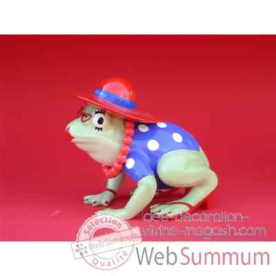 Figurine Grenouille - Fanciful Frogs - Red Hat Hoppy - 11936