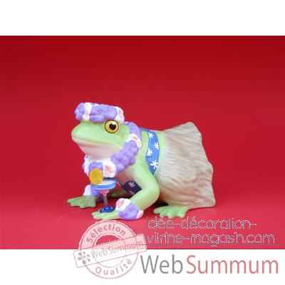 Figurine Grenouille - Fanciful Frogs - Hoppy in Hawaii - 11957