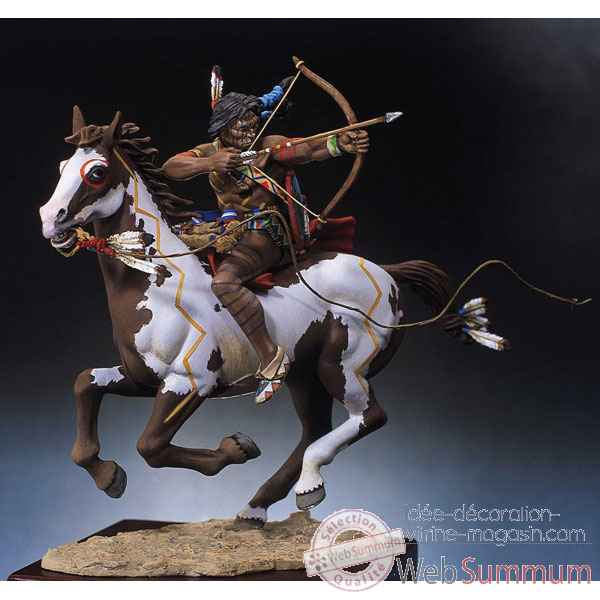 Figurine - Guerrier sioux tirant a l'arc - S4-F3