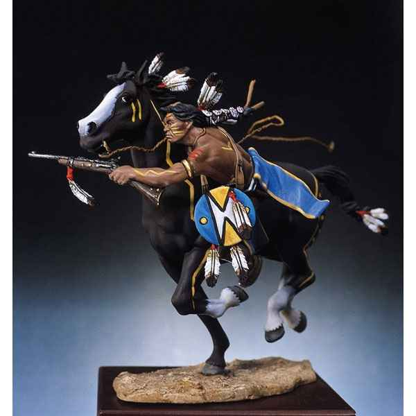 Figurine - Kit a peindre Guerrier sioux tirant a la carabine - S4-F4