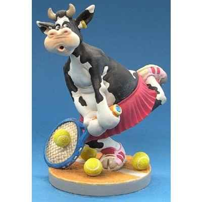 Figurine So Vache jouant au tennis -SOV 01