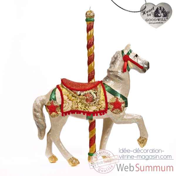Caroussel cheval rouge 76cm -B 30060