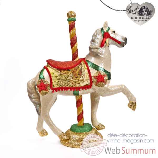 Caroussel cheval rouge 76cm -B 30061