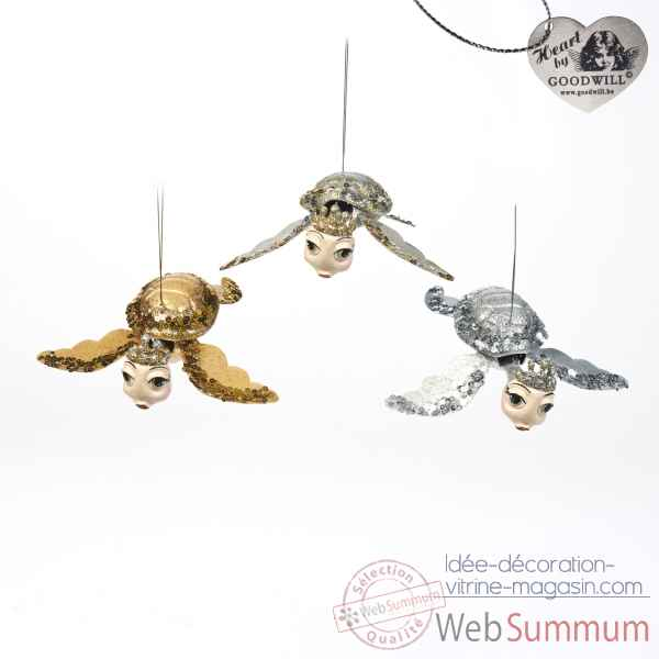 Lot de 3 tortue decorative 18cm -B 30652