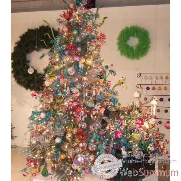 Sapin noel d cor sur id e d coration vitrine magasin - Photo arbre de noel decore ...