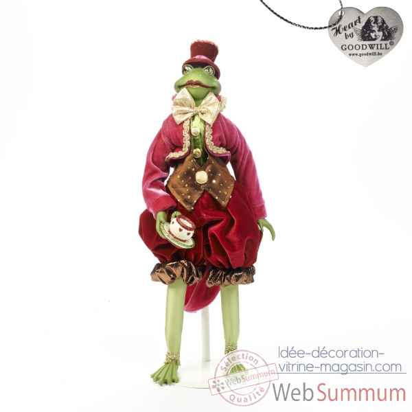 Tea time grenouille statuette 45cm -C 12122