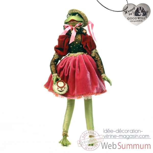 Tea time grenouille statuette 45cm -C 12123