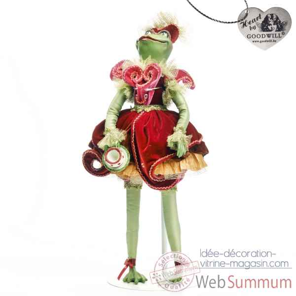 Tea time grenouille statuette 60cm -C 12128