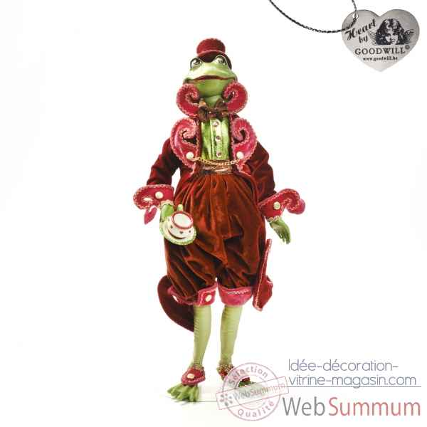 Tea time grenouille statuette 60cm -C 12129