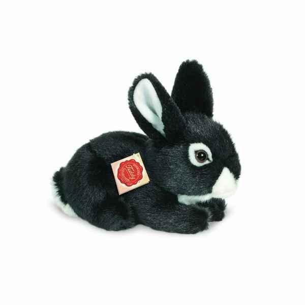 peluche lapin assis noir 19 cm hermann dans lapins de peluche animali re piutre. Black Bedroom Furniture Sets. Home Design Ideas