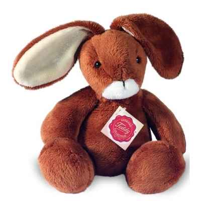 Peluche Hermann Teddy peluche lapin souple marron 22 cm -93821 7