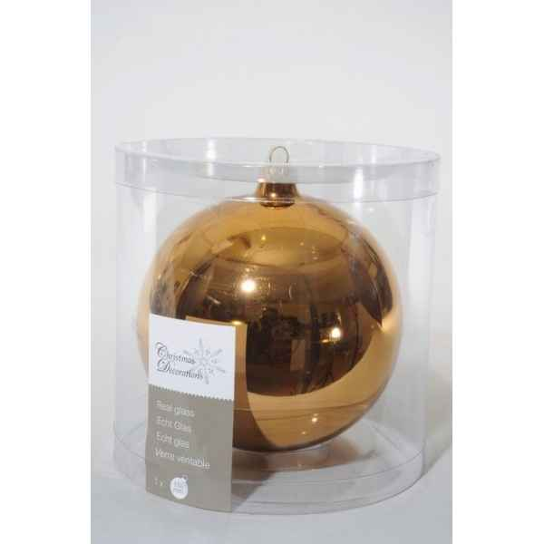 Boule uni brillant 150mm amande Kaemingk -113486