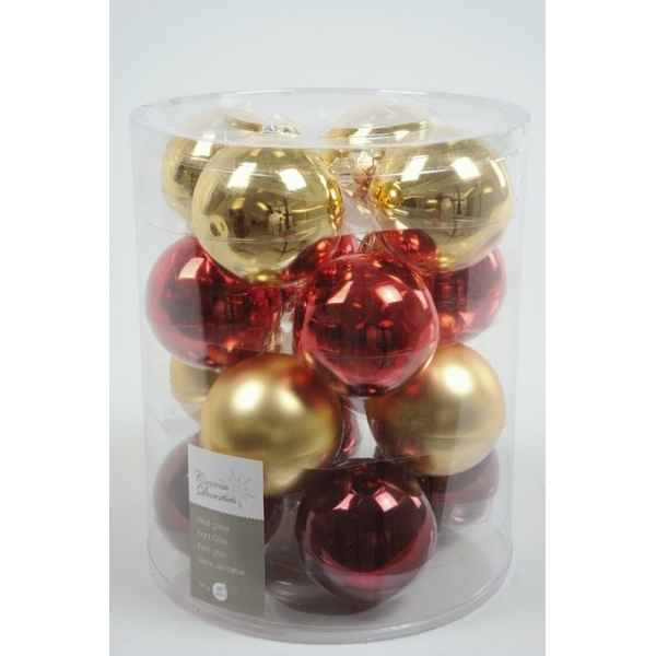 Boules mach christmas ant mix 80mm Kaemingk -145010