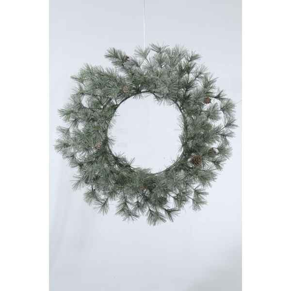 Couronne frosted pomme de pin 90 branches Kaemingk -681192