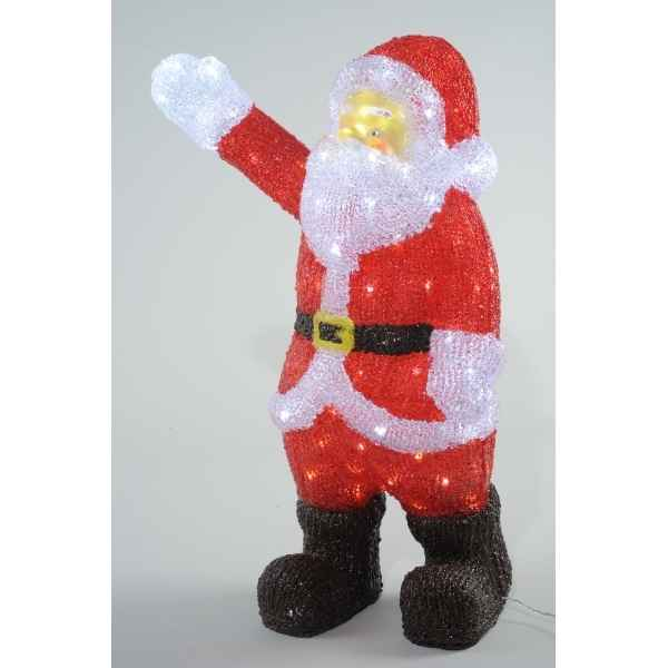 pere noel led Led pere noel acryl Kaemingk dans decoration lumineuse Noel de  pere noel led