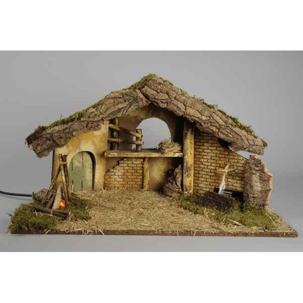 Cr che et santon de noel sur id e d coration vitrine magasin - Decoration cheminee pour noel ...