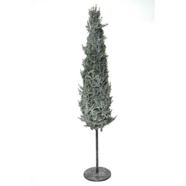 Mini sapin pommes de pin glace paillettes 90 cm  Everlands -NF -688347