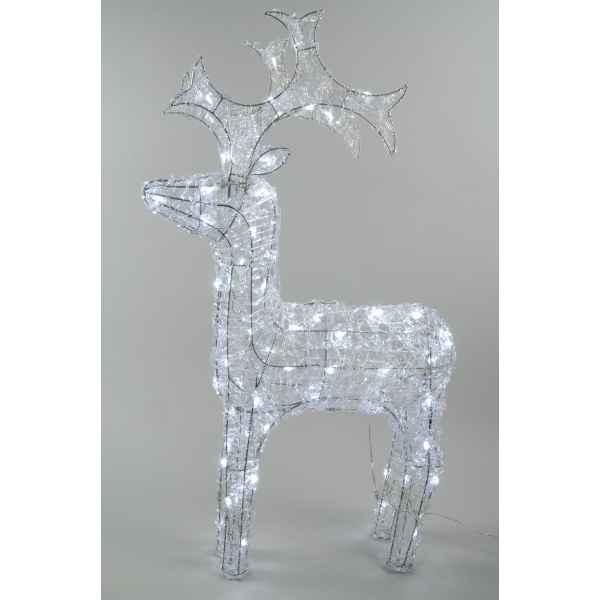 Ours pere acryl led kaemingk 492011 dans animaux - Decoration noel renne lumineux ...