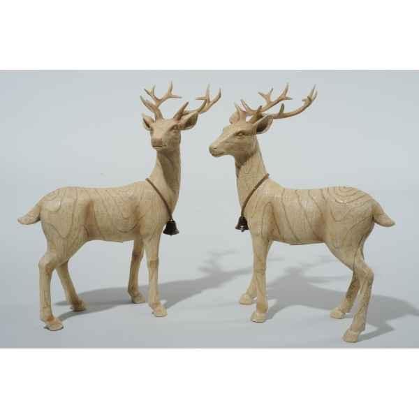 Renne debout polystyrene finition bois Kaemingk ,533847. Voir Kaemingk · Decoration  Noel Bois