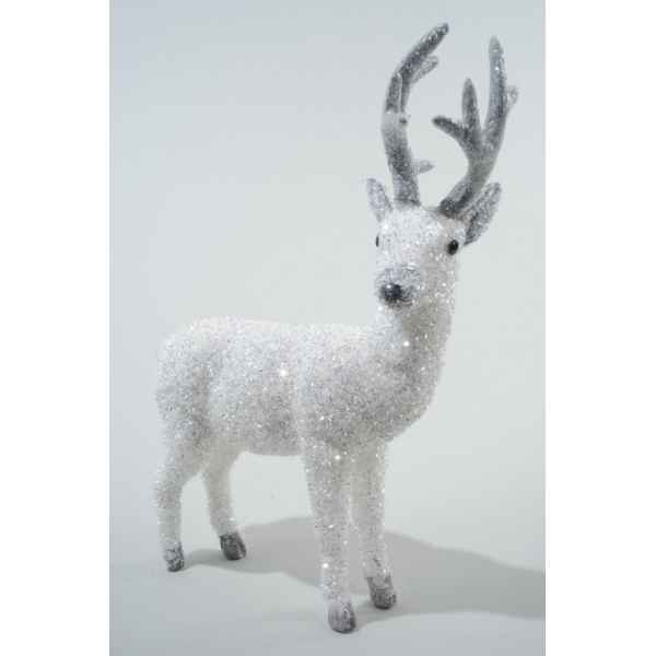 Tete renne polystyrene attache murale polystyrene kaemingk for Decoration murale tete animaux