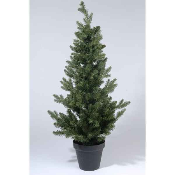 Sapin 2d real needle dans pot 90 cm Everlands -NF -680498