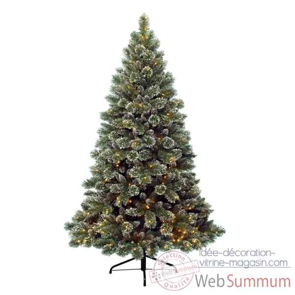 Sapin givre finley illuminé 210 cm Everlands -NF -671562