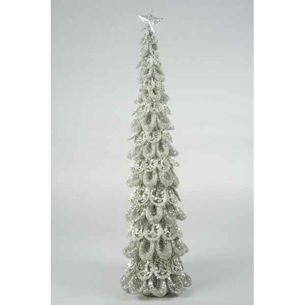 Sapin noel metal avec paillettes Everlands -NF -737433