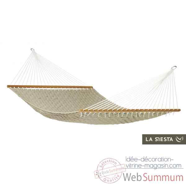 North american style hamac a barres double louisiana crocodile La Siesta -NBR14-44