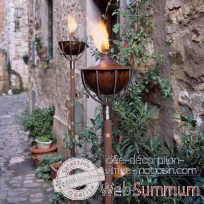 2 Lampes a huile Roma cuivre Aristo - 824608