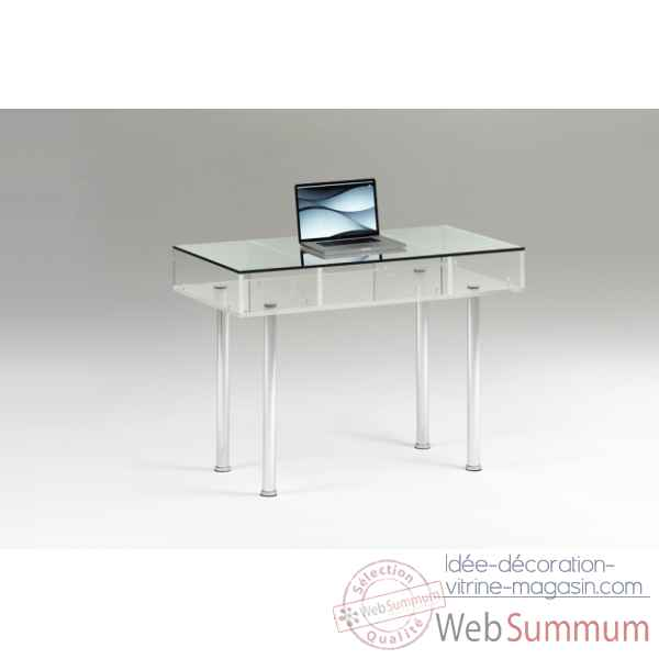 Bureau en plexiglas & aluminium Marais International -MT22V