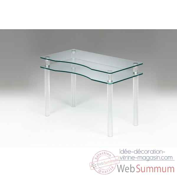 Bureau en plexiglas & verre Marais International -MT25SP170