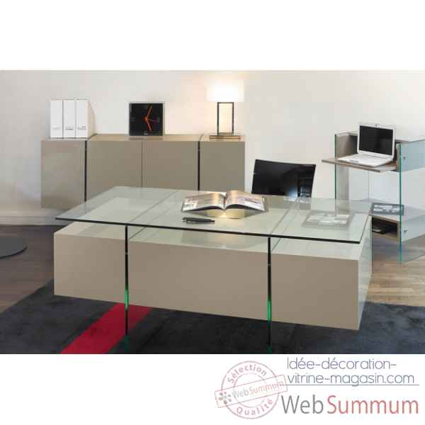 les invisibles bureau pieds pmma 118x60 de meubles transparent marais. Black Bedroom Furniture Sets. Home Design Ideas