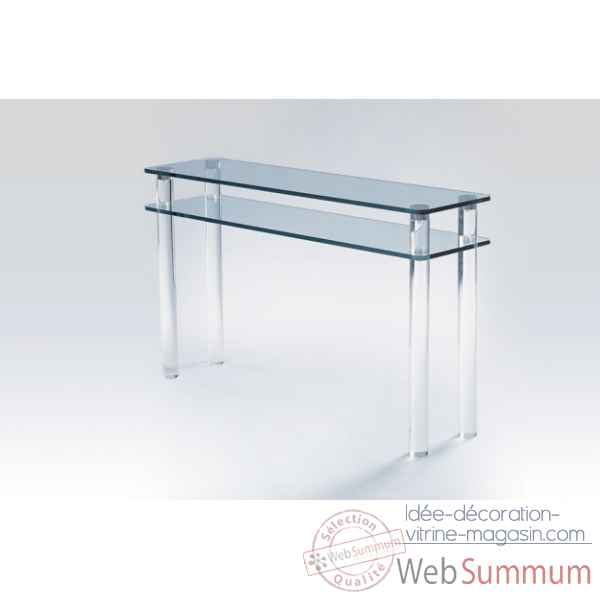 Console en plexiglas & verre Marais International -MC130SP