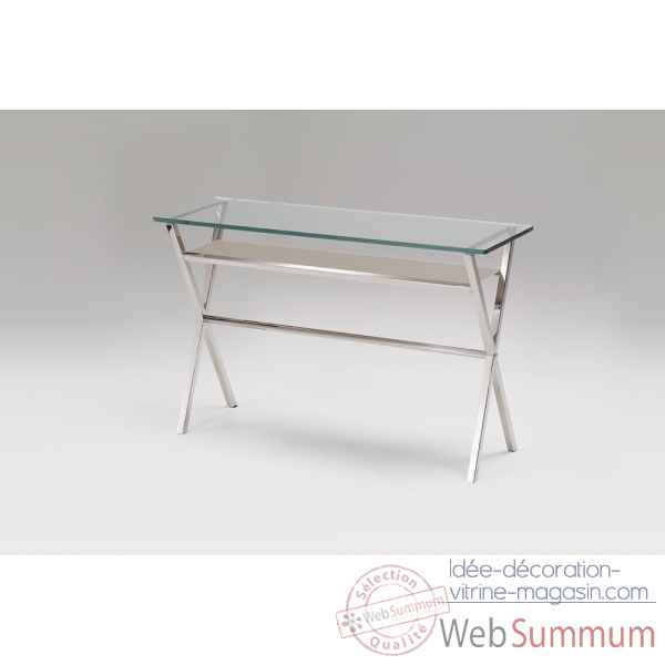 Console en verre & inox Marais International -XL350