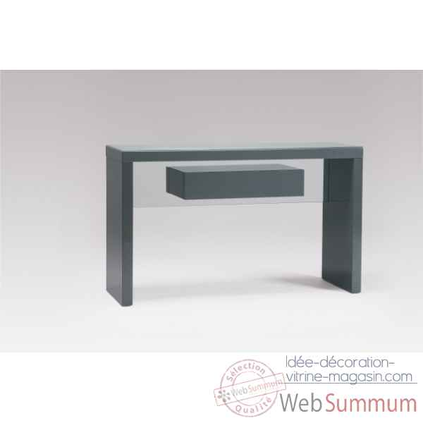 Console laquee gris Marais International -SYRA352LG