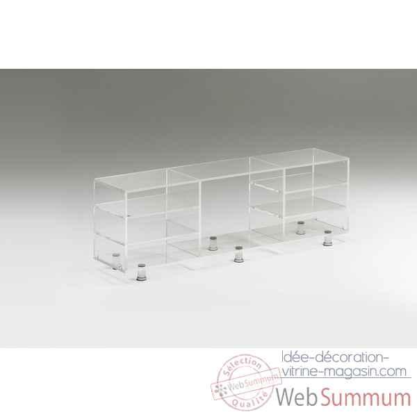 meubles en verre ou plexiglas gallery of meuble tv en. Black Bedroom Furniture Sets. Home Design Ideas