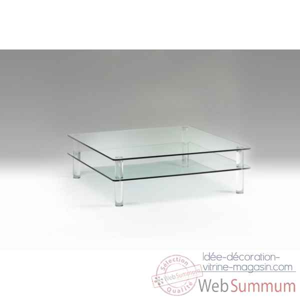 Table basse en plexiglas & verre Marais International -MTB118