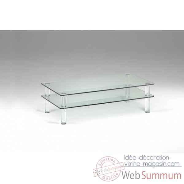 Table basse en plexiglas & verre Marais International -MTB137