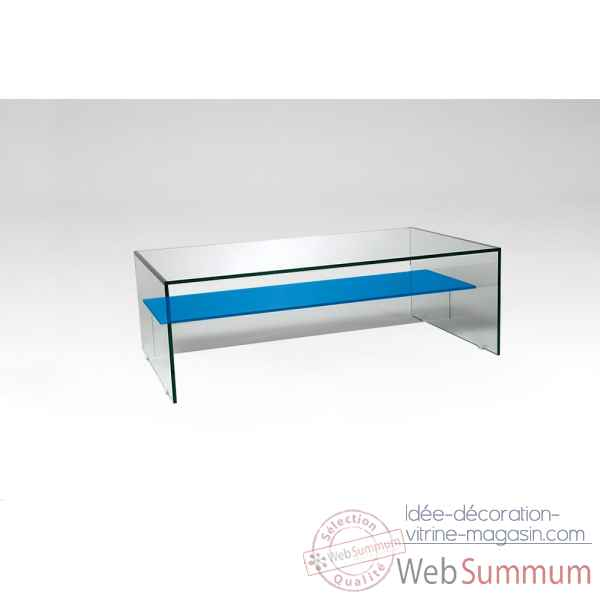Table basse en verre colore Marais International -COLTB