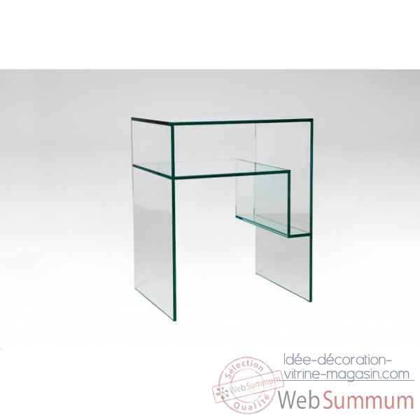 Table de chevet en verre Marais International -CRCHEVET