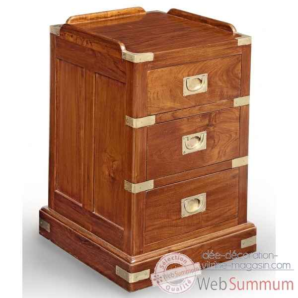 chevet en teck avec poignees renforts et ornement pour la marine en laiton massif meuble de. Black Bedroom Furniture Sets. Home Design Ideas
