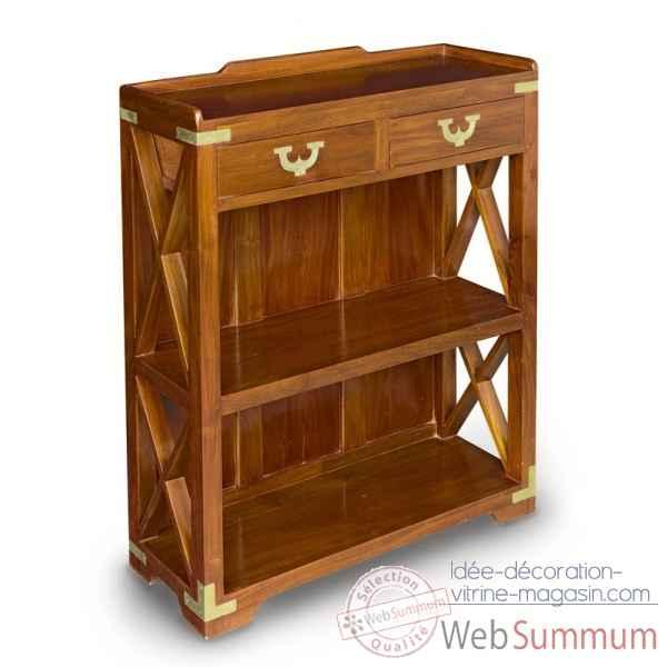 Latest etagere en acajou massif avec renforts et ornement pour la marine en laiton massif meuble - Coin de meuble en laiton ...