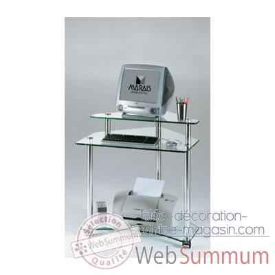 Meuble ordinateur marais en pmma mr853 dans bureau desing - Meuble ordinateur blanc ...