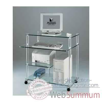 meuble ordinateur marais en pmma mr853 dans bureau desing. Black Bedroom Furniture Sets. Home Design Ideas