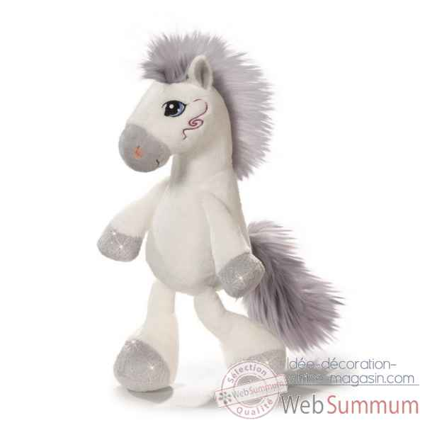 Peluche cheval miracle blanc 50cm Nici -NI38747