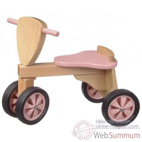 Tricycle- couleur rose et naturel -1392