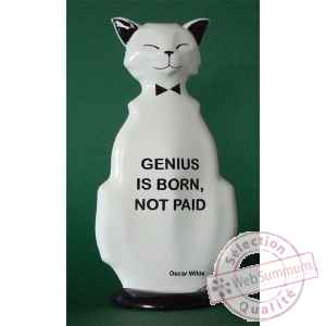 Figurine chat - wild cat genius is born - wic01