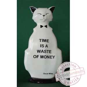 Figurine chat - wild cat time is a waste - wic03