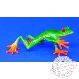 Figurine grenouille - red-eyed tree frog (streched) - bf02